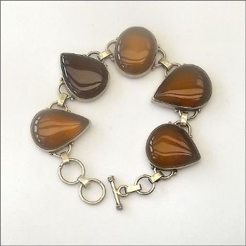Indian Bracelet with Amber Agate